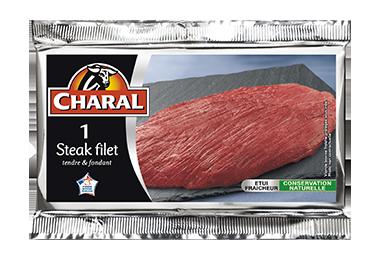 Steak de bœuf dans le filet à griller : Temps de cuisson, Infos Nutrition - charal.fr