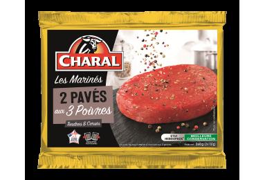 Pavé de bœuf marinade aux 3 poivres, cuisson à la poêle - charal.fr