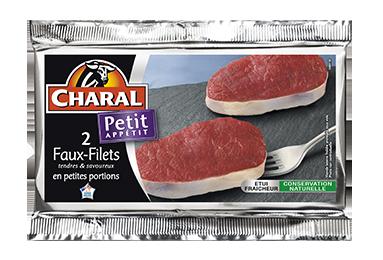 Faux-filet de boeuf 80g : Cuisson à la poêle, Infos Nutrition, Calorie - charal.fr