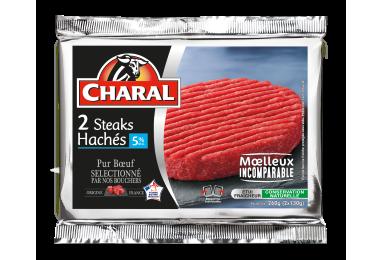 Steak haché pur bœuf à griller 5% MG : Temps de cuisson, Infos Nutrition - charal.fr