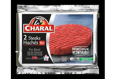 Steak haché pur bœuf à griller 15% MG : Temps de cuisson, Infos Nutrition - charal.fr