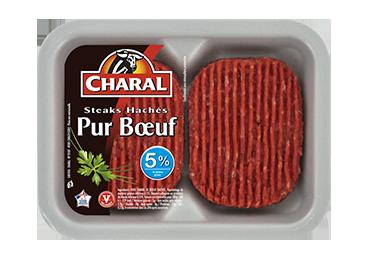 Steak haché ultra frais pur bœuf à griller 5% MG : Infos Nutrition - charal.fr