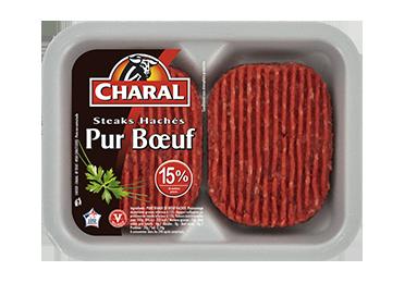 Steak haché ultra frais pur bœuf à griller 15% MG : Infos Nutrition - charal.fr