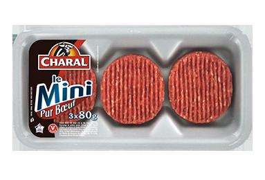 Steak haché pur bœuf Mini 80g à griller 15% MG : Cuisson, Infos Nutrition - charal.fr