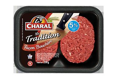Steak haché pur bœuf Tradition façon bouchère à griller 5% MG - charal.fr