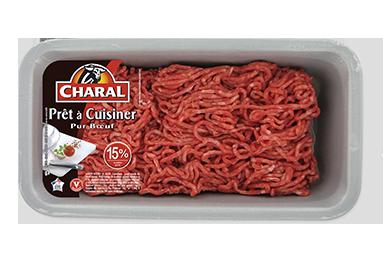 Viande hachée pur bœuf 15% MG prête à cuisiner - charal.fr