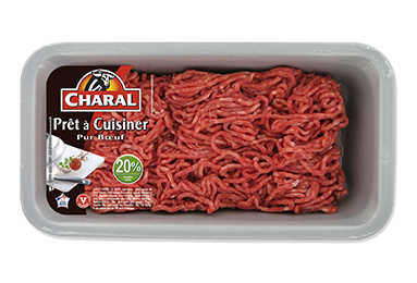 Viande hachée pur bœuf 20% MG prête à cuisiner - charal.fr