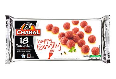 Boulettes au bœuf à poêler Happy Family - charal.fr