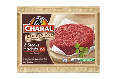 Steak haché pur bœuf authentique 140g à griller 15% MG : Infos Nutrition - charal.fr