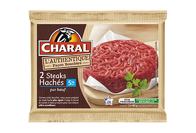 Steak haché pur bœuf authentique 140g à griller 5% MG : Infos Nutrition- charal.fr