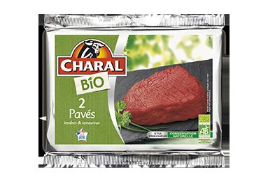 Pavés de bœuf BIO, cuisson à la poêle - charal.fr