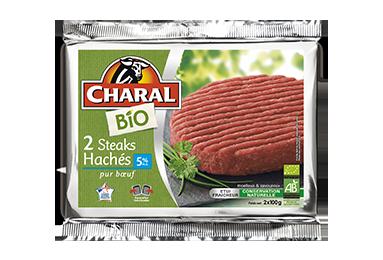 Steak haché 100% pur bœuf BIO à griller 5% MG - charal.fr