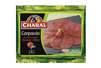 Carpaccio Concassé Tomates-olives - Nos carpaccios - charal.fr