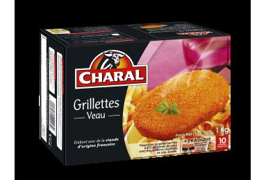 Grillettes au Veau surgelées cuisson à la poêle - charal.fr