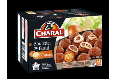 Boulettes au bœuf à l'oignon surgelées à cuisiner - charal.fr