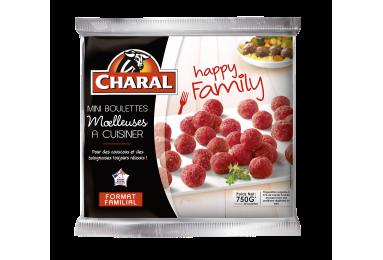 Mini Boulettes au bœuf surgelées à cuisiner Happy Family - charal.fr