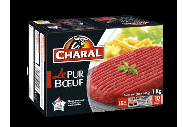 Steak haché pur bœuf surgelé 15% MG à griller : Infos Nutrition - charal.fr
