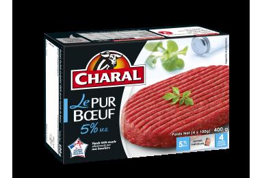 Steak haché pur bœuf surgelé 5% MG à griller : Infos Nutrition - charal.fr