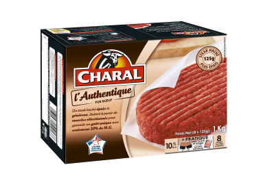 Steak haché pur bœuf surgelé L'Authentique 125g à griller : Infos Nutrition - charal.fr