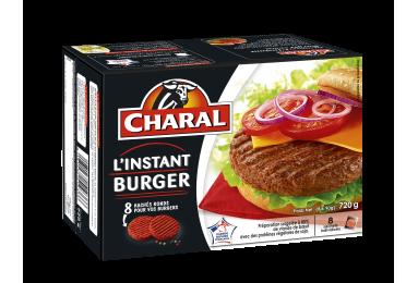 Haché au bœuf L'Instant Burger surgelé, cuisson à la poêle - charal.fr