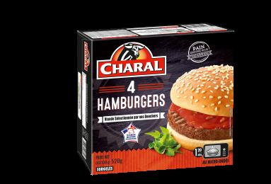 Hamburger au bœuf surgelé à réchauffer au micro-ondes - charal.fr