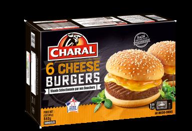 Cheeseburger au bœuf surgelé à réchauffer au micro-ondes - charal.fr