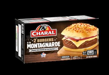 Burger à la Montagnarde au bœuf, surgelé, à réchauffer au micro-ondes - charal.fr