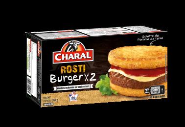 Rosti Burger au bœuf, surgelé à réchauffer au micro-ondes - charal.fr