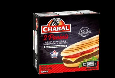 Panini bœuf, tomates & mozzarella, surgelé - charal.fr