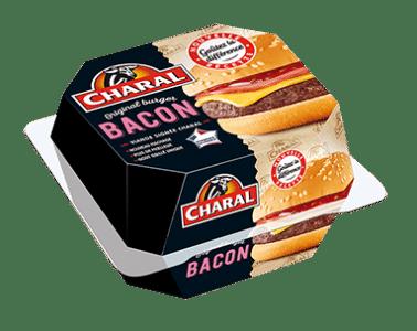 Bacon Burger au bœuf à réchauffer au micro-ondes - charal.fr