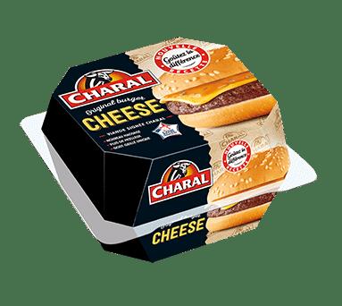 Cheeseburger au bœuf à réchauffer au micro-ondes - charal.fr
