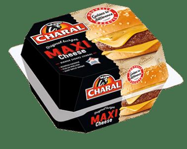 Burger Maxi Cheese au bœuf à réchauffer au micro-ondes - charal.fr