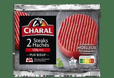 Steak haché pur boeuf 15% MG à griller à la poêle