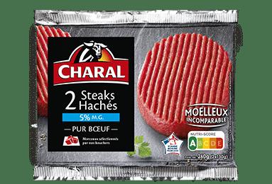 Steak haché pur boeuf à griller 5% MG - charal.fr
