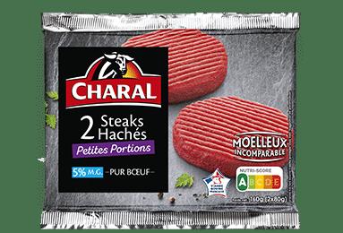 Steak haché pur boeuf petit appétit 80g à griller 5% MG - charal.fr