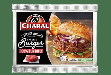 Steak haché 100% pur bœuf Spécial Burger maison, cuisson à la poêle - charal.fr