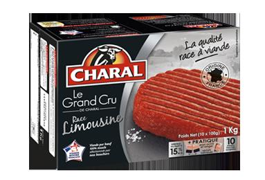 Steak haché Limousin Grand Cru 100% pur bœuf surgelé 15% MG à griller - charal.fr