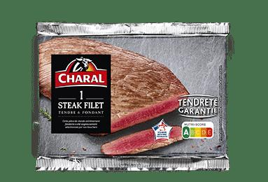 Steak de boeuf dans le filet à griller, cuisson à la poêle - charal.fr