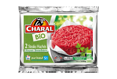 Steak haché pur bœuf BIO façon bouchère à griller 5% MG - charal.fr