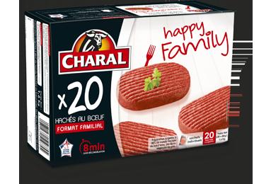 Hachés au bœuf Happy Family surgelés cuisson à la poêle - charal.fr