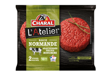 Steak Haché 100% pur bœuf à griller | Race Normande - charal.fr