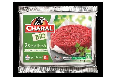Steak haché pur bœuf BIO façon bouchère à griller 15% MG - charal.fr
