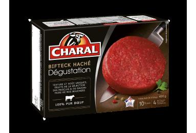 Bifteck haché pur bœuf Dégustation, surgelé, cuisson à la poêle - charal.fr