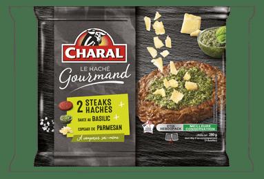 Steak haché de bœuf gourmand Basilic Parmesan à cuisiner - charal.fr