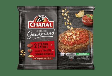 Steak haché de bœuf gourmand Tomate Oignons à cuisiner - charal.fr