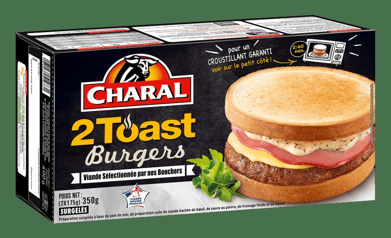 Toast Burger au bœuf, surgelé à réchauffer au micro-ondes - charal.fr