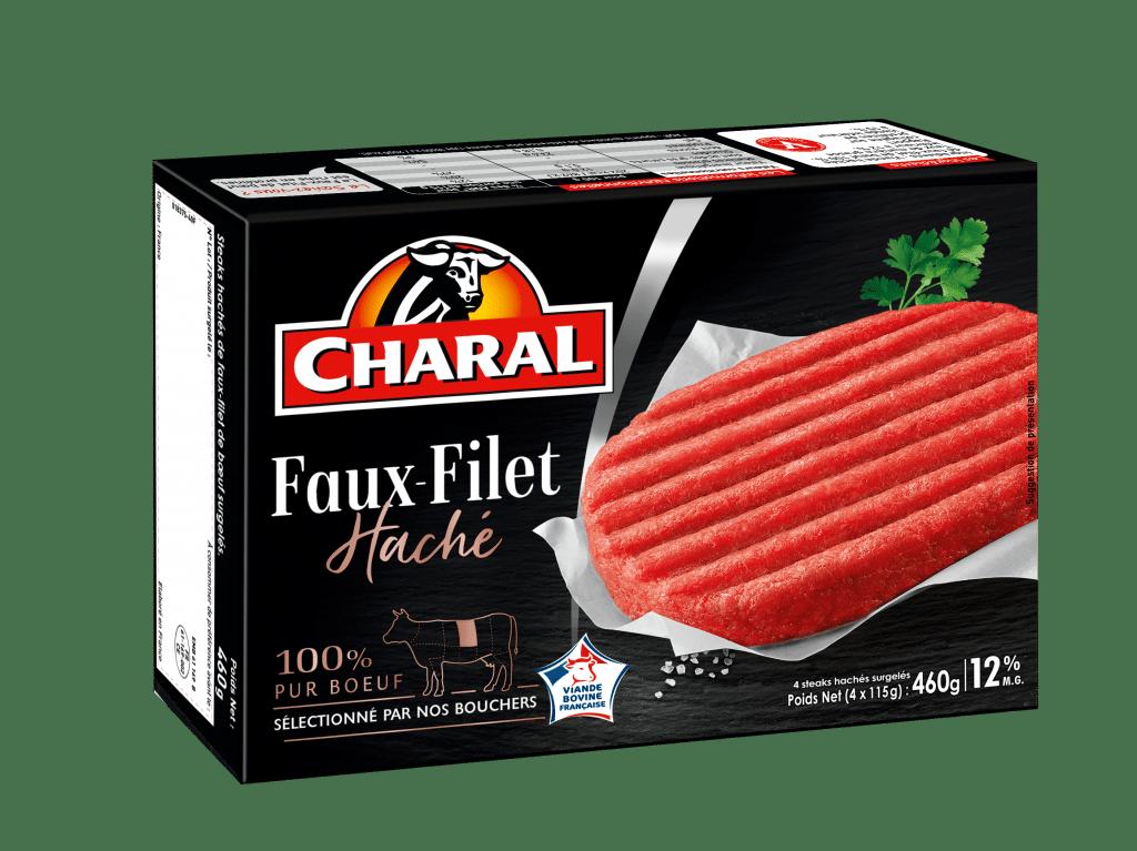 Steak haché de Faux-Filet de bœuf surgelé 12% MG à poêler - charal.fr