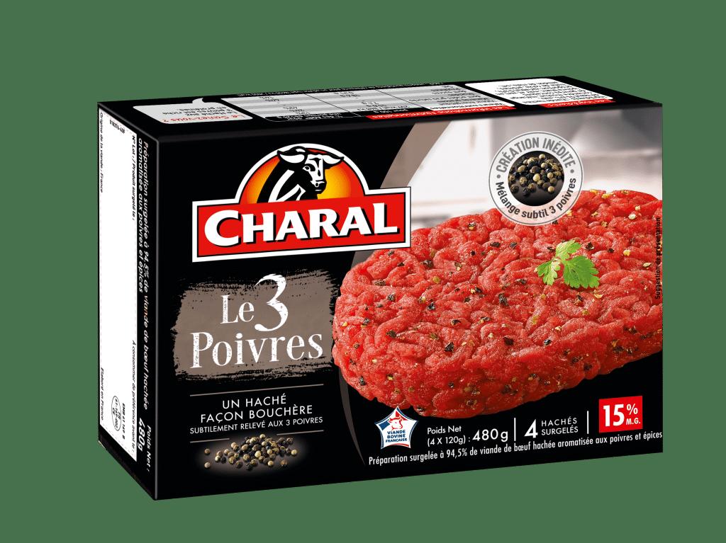Haché au bœuf Le 3 poivres, cuisson à la poêle - charal.fr