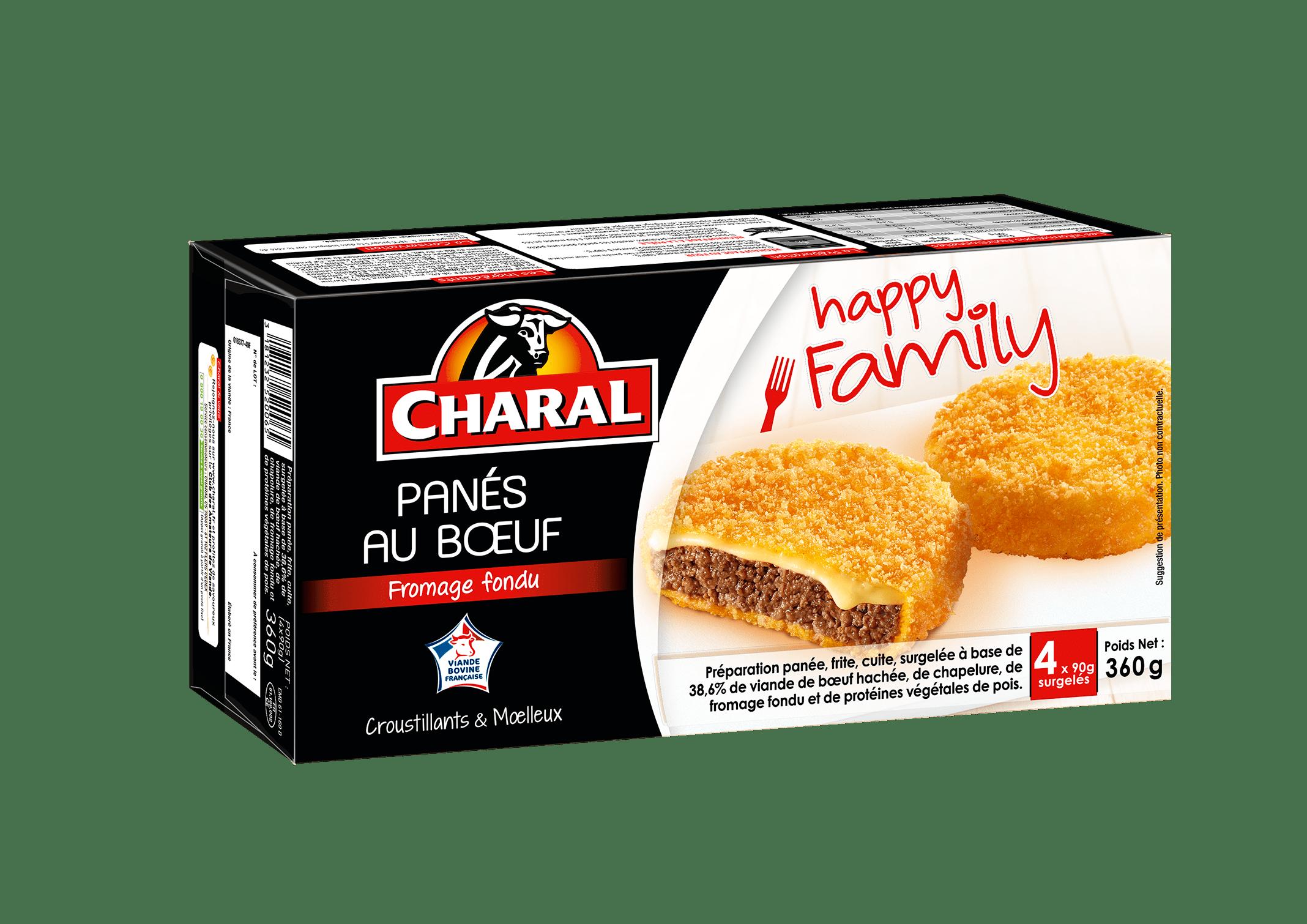 Le pané au boeuf et fromage fondu surgelé à réchauffer - charal.fr