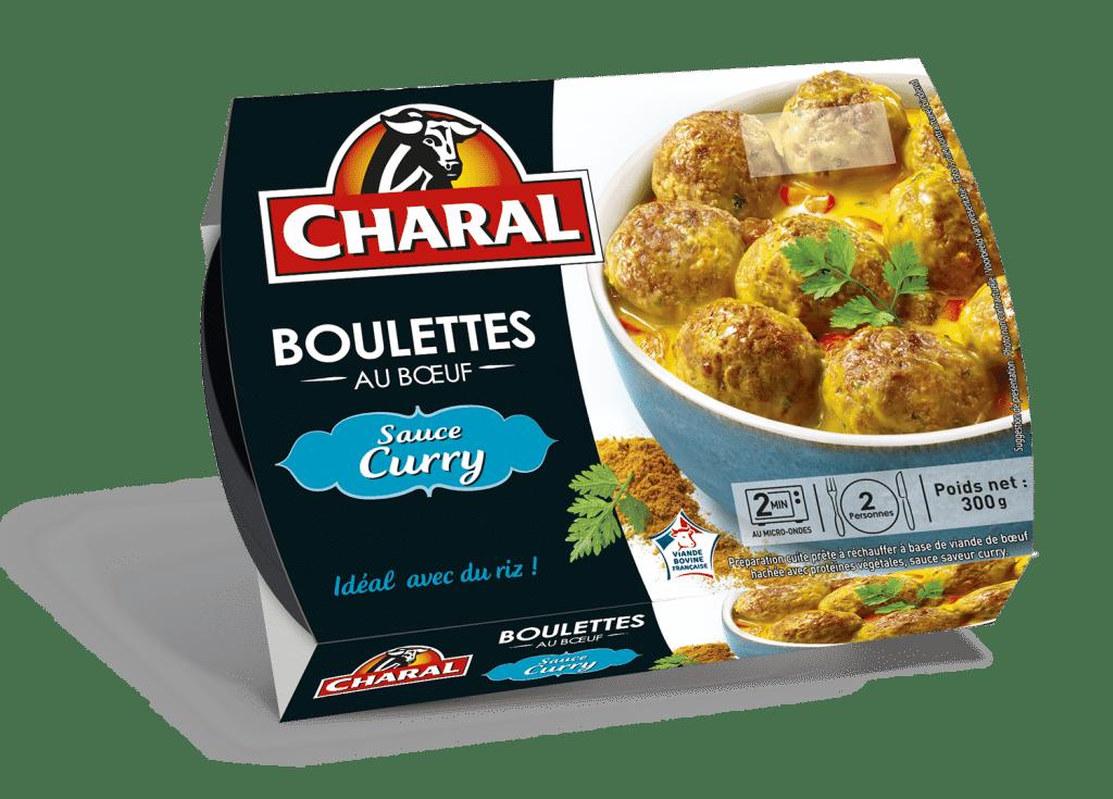 Boulettes au bœuf sauce au curry, à réchauffer - charal.fr